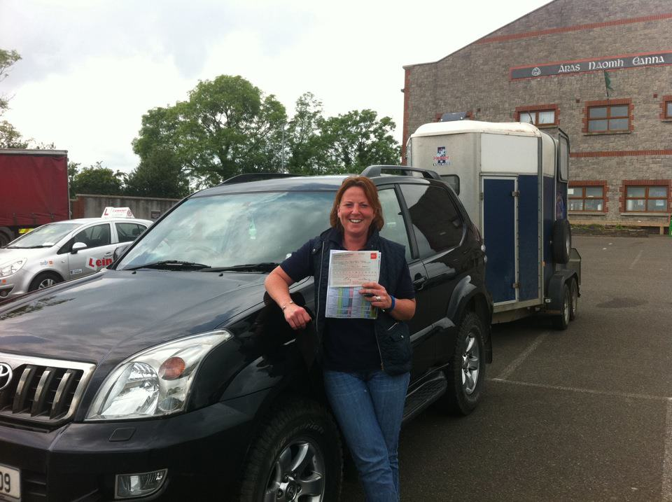 Alex Moores Passed Driving Test Jeep and Trailer with Fergal O'Connor Gorey Driving Test Centre