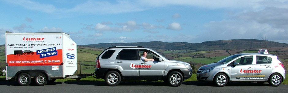 Banner Driving Lessons Gorey with Driving Instructor Car Jeep Trailer